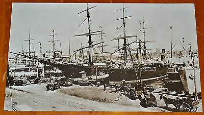 New York City Harbor At Turn Of The Century Tall Ship - Vintage Boat Bateaux