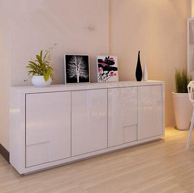 New High Gloss White Modern Sideboard Buffet Cabinet Hall Table with Large Space