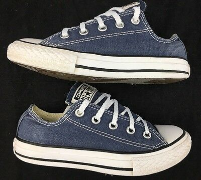 Kids Youth Boys Converse Chuck Taylor All Star Low Top Sneakers Shoes Blue 13