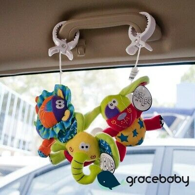 123 Grow Car Pram Accessory Toy Clip on Pals - Zoo