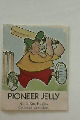 Ploneer jelly Kim Hughes stickers collectables