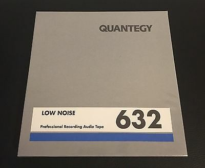 """Quantegy LOW NOISE 632 tape, factory sealed - case of 40 tapes, .25"""" x 1200'"""