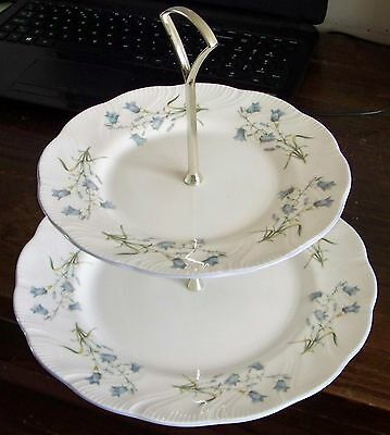 QUEENS ROSINA Harebell Two Tier Cake Stand - Woman and Home Collection - Mint