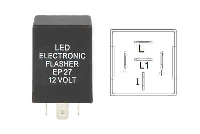A2Zworld Flasher Led Lampeggiatore Rele Relay 5 Pin Ep27 12V Per Frecce Led Ford