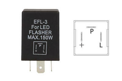A2Zworld Flasher Led Lampeggiatore Rele Relay 3 Pin Efl3 12V Per Frecce Led Auto