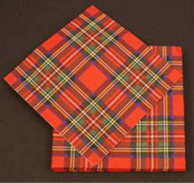 Royal Stewart (red) Tartan Scottish Paper Napkins x 20  - Direct from Scotland