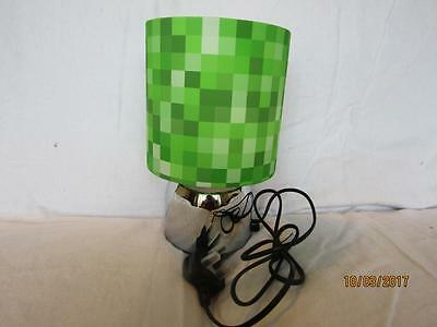 PIXELS TOUCH LAMP BEDSIDE TABLE KIDS ROOM MATCHES MINECRAFT GAME with  FREE GIFT