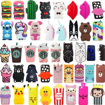 Hot 3D Soft Silicone Cartoon Phone Case Cover For Samsung S6 S7 S8 S9 S10 Plus