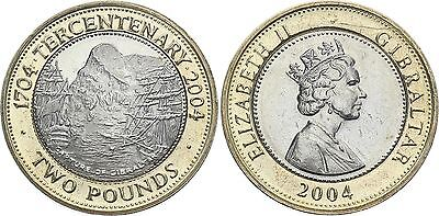 COIN Gibraltar 2 Pounds 2004 KM# 1106 Bi-Metallic