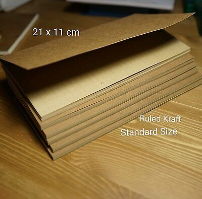 Ruled Kraft Planner Refill for Standard Size Midori Travelers Notebook