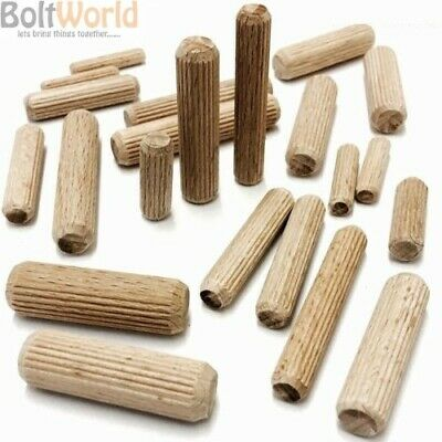 Hardwood Multigroove Chamfered Wooden Dowels Flutedpin Wood Beechwood