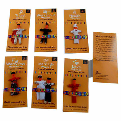 Guatemala Worry Doll Gift Personalized Worries Health/Travel/Marriage/Love/work