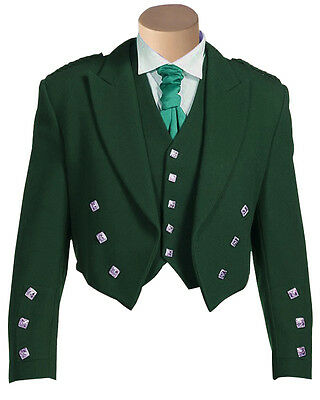 Men's SCOTTISH TRADITIONAL 100% Quality Fabric Charlie Jacket with Waist Coat.