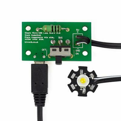 Micro USB Lamp Kit - 1W LED Electronics Project Soldering Kit 2152