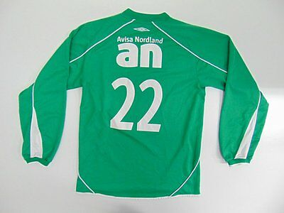 2010 2015 Umbro Instrandens IL Norway home shirt soccer rare long sleeve #22