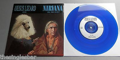 "The Jesus Lizard / Nirvana UK 1993 Touch And Go Blue Vinyl 7"" Single P/S"