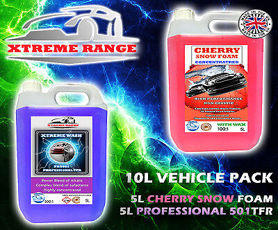 Vehicle Car Cleaning Pack - Professional Tfr 5L And Cherry Snowfoam 5L