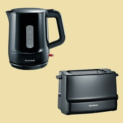 Severin Set Start - Wasserkocher WK 3381 + Toaster AT 2281 - schwarz
