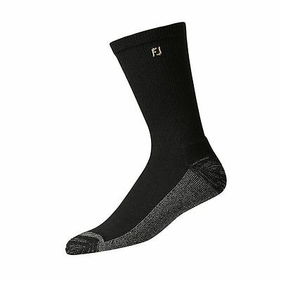 FootJoy Mens ProDry Crew Socks - XL - Crew - Black