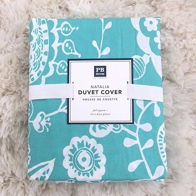 New Pottery Barn Teen Natalia Duvet Cover only queen Multi aqua pool