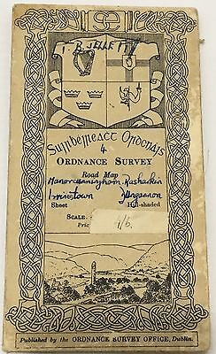Antique Map of Ireland Ordnance Survey Road Map Sheet 4 Strabane &Duncannon EIRE