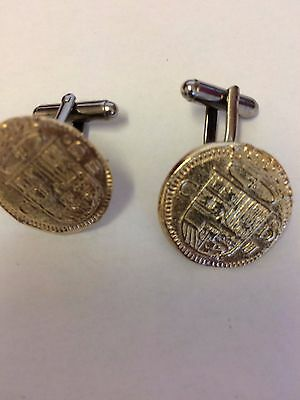 Gold Doubloon Coin WC36A Gold Pair of Cufflinks Made From English  Pewter