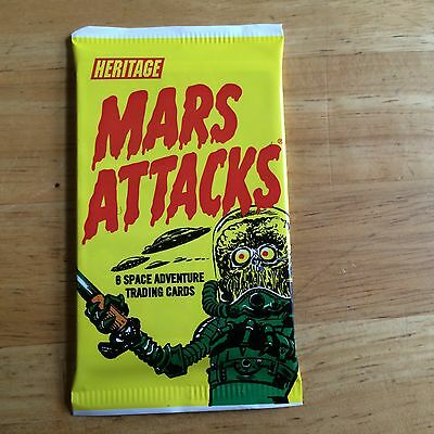 Unopened Pack Of 2012 Topps Heritage Mars Attacks Space Adventure Trading Cards