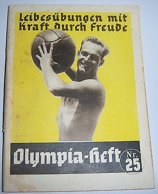 "OLYMPICS 1936  Booklet No. 25 -  ""Health & Fitness""."