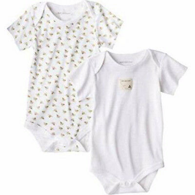 Burt's Bees Baby Set of 2 Organic Cotton Bodysuits, 3-6 Months, Unisex