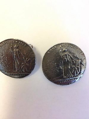 Charles Edward Stuart Coin WC39A Pair of Cufflinks Made From English  Pewter