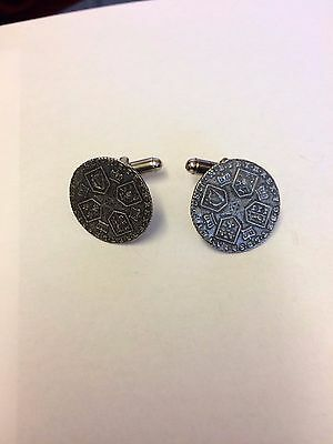 George III Coin WC40A Pair of Cufflinks Made From English  Pewter