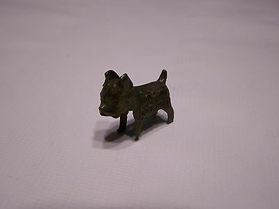 1950s Metal Miniature Ideal Dog Food Good Luck Advertising Charm