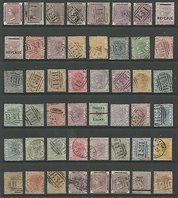 Sierra Leone Collection Of 48 Early Victorian Stamps Mainly Fine Used High Cat.