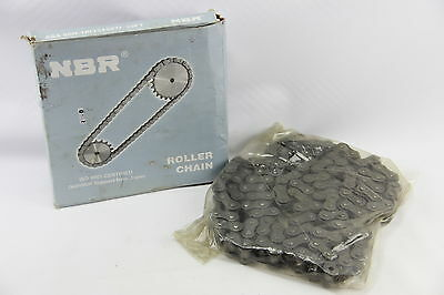 "NBR ASA 80H-1R Roller Chain 10ft 1"" Pitch 5/8"" Roller Riveted ISO 9001"