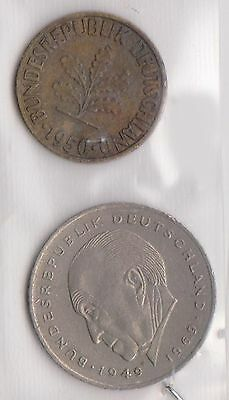 (H30-1) 1949-50 Germany 2coins 2pf and 2M (A)
