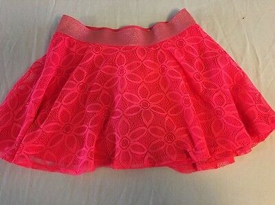 Girls Justice Skort Lace Overlay Size 12 Pink