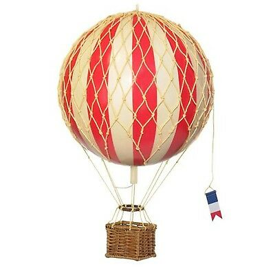 Hot Air Balloon Home Decor - Authentic Models Floating the Skies Color: Red