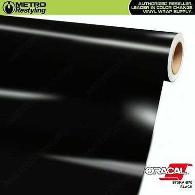 ORACAL Series 970RA-070 GLOSS BLACK Vinyl Vehicle Car Wrap Film Sheet Roll