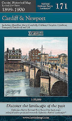 Cardiff and Newport (Cassini Revised New Series Historical Map), , New Book