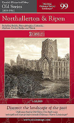 Northallerton and Ripon (Cassini Old Series Historical Map), VARIOUS, New Book