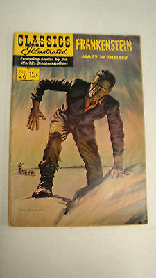 Classics Illustrated #26 Mary Shelley's Frankenstein 1945 Printing