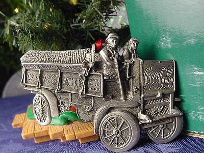 NEW 1909 Pewter COCA COLA DELIVERY TRUCK CHRISTMAS ORNAMENT COKE WILLITTS w BOX