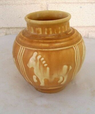 Wonderful & Rare Antique Rookwood Vase with Four Ponies Year 1935