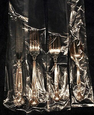 Chantilly Gorham  Sterling Flatware Set For 8 Professionally Buffed New Box