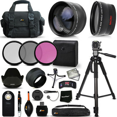Deluxe 21 Piece Accessory Kit w/ Lenses + Case + Tripod + MORE f/ Nikon Cameras