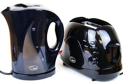 Kettle and Toaster Set Fast Boil Bagel 2 Slice Electric Tea Maker Bread Cordless