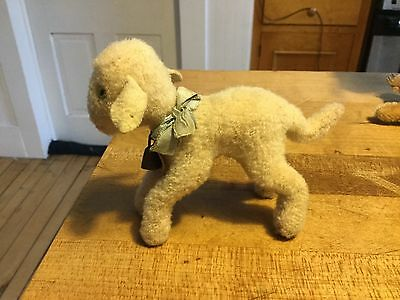 """VINTAGE MINIATURE STEIFF LAMBY LAMB SHEEP 4""""  ID SO SWEET!Excellent Condition"""