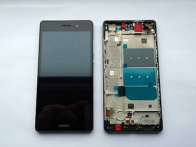 Black Huawei Ascend P8 Lite LCD Display Touch Screen Digitizer & Frame ALE-L21