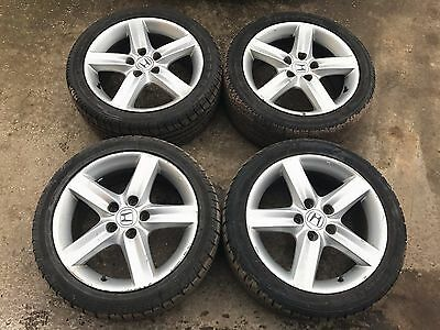 4x  2006 HONDA CIVIC MK8 (05-11) TYPE S R ALLOY WHEEL SET 17 INCH WITH TYRES