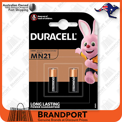 2x Duracell MN21 12V 21/23 V23GA A23 K23A LRV08 8LR50 Battery *Fast Post*Genuine